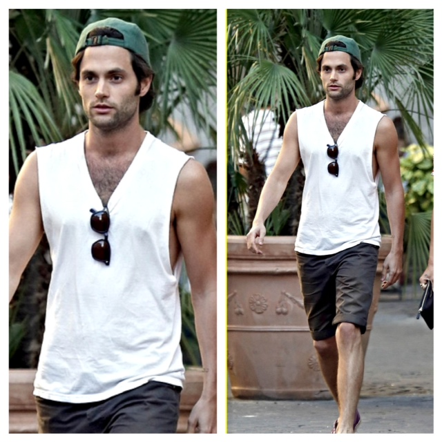 Penn badgley hairy chest