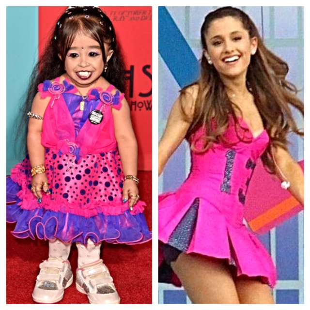 Jyoti Amge and Ariana Grande